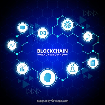 Tło blockchain