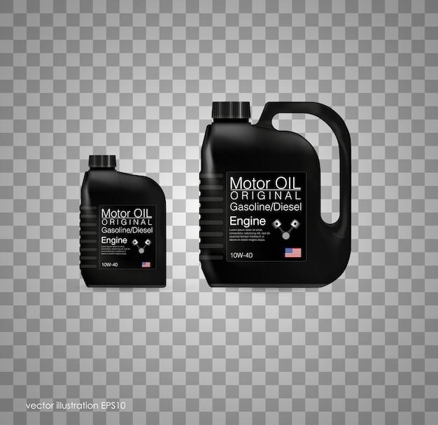 Tło butelka oleju silnikowego, ilustracja. przezroczyste tło