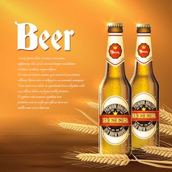 Tło butelki piwa