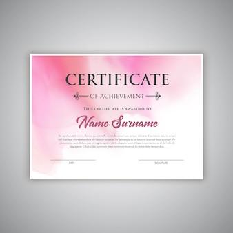 Tło certyfikatu z akwarelą