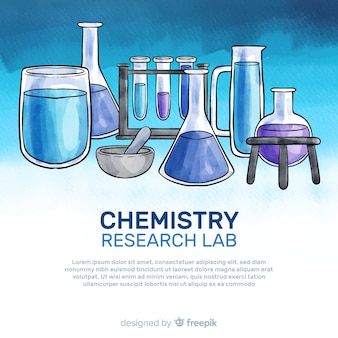 Tło chemii akwarela