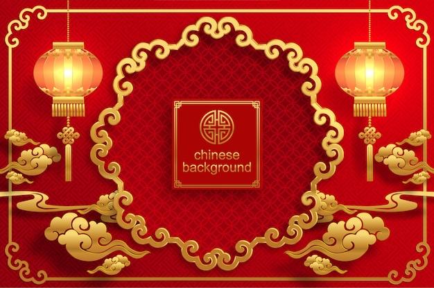 Tło chińskie wesele orientalne