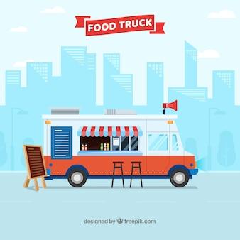 Tło ciężarówka żywności