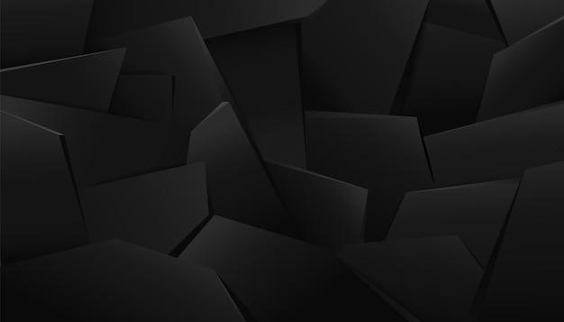 Tło czarnego kamienia gruzu. ciemne brutalne nakładanie warstw maswerku