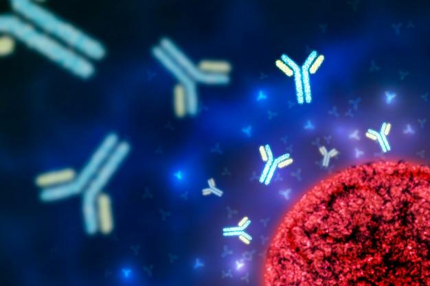 Tło cząsteczki realistyczne przeciwciało immunoglobuliny