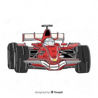 Tło czerwone formuły 1 samochodu