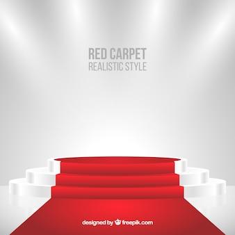 Tło czerwonego dywanu w realistycznym stylu
