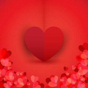 Tło czerwonych serc