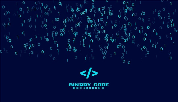 Tło danych cyfrowych algorytmu kodu binarnego
