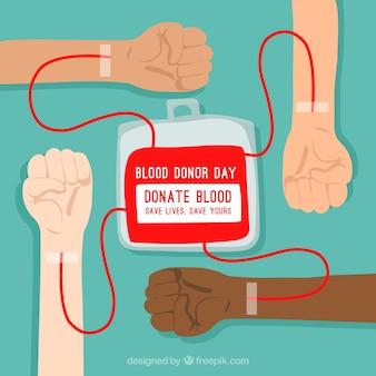 Tło dawcy krwi
