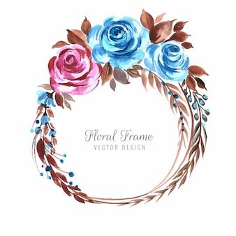 Tło dekoracyjne kolorowe kwiaty ramki