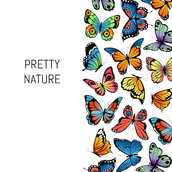 Tło dekoracyjne motyle ładna przyroda