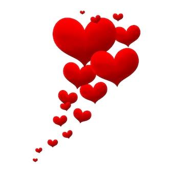 Tło dekoracyjne serce miłości