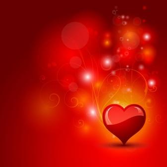 Tło dekoracyjne serce z abstrakcyjnym tle kwiatowy wzór