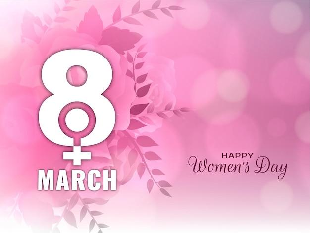 Tło dekoracyjne szczęśliwy dzień kobiet w stylu bokeh