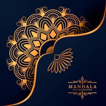 Tło dekoracyjne z eleganckim, luksusowym wzorem mandali
