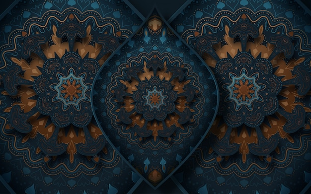 Tło dekoracyjne z elementami ozdobnymi w stylu orientalnym.