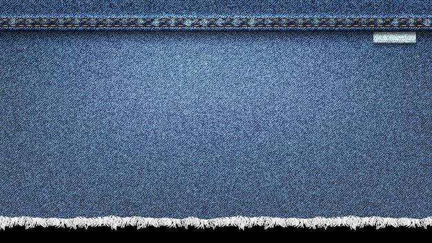 Tło denim, niebieskie dżinsy realistyczne tekstury