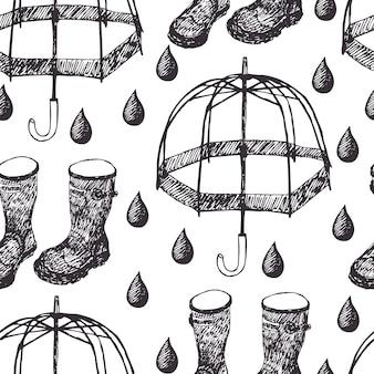 Tło deszczowe
