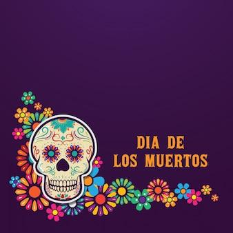 Tło dia de los muertos