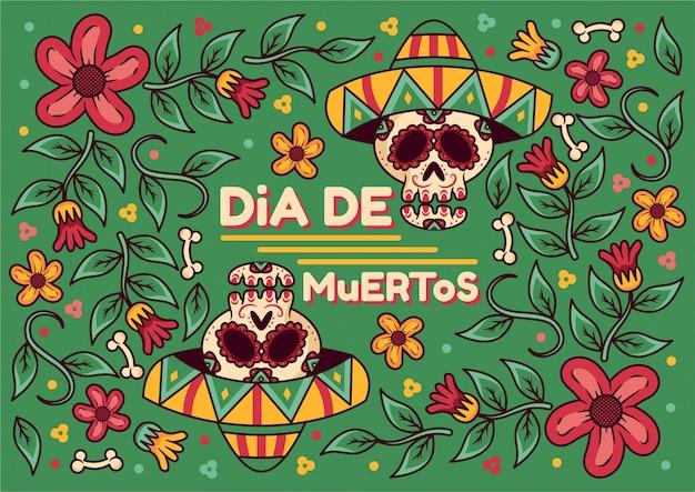 Tło dia de muertos