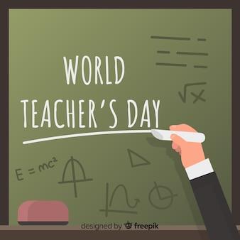 Tło dla nauczyciela z całego świata
