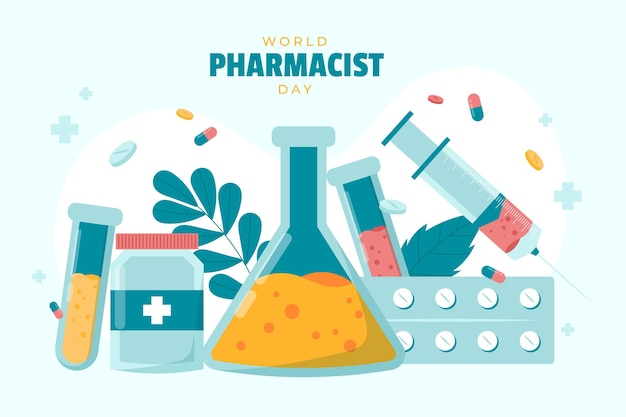 Tło dnia farmaceuty