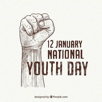 Tło dnia młodzieży