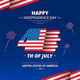 Tło dnia niepodległości 4 lipca stany zjednoczone ameryki