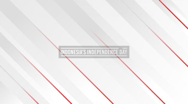 Tło dnia niepodległości indonezji. streszczenie czerwone i białe tło