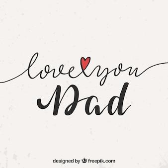 Tło dnia ojca z napisem