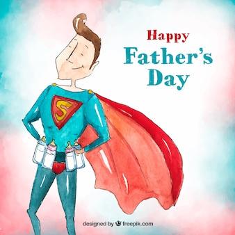 Tło dnia ojca z super tatą