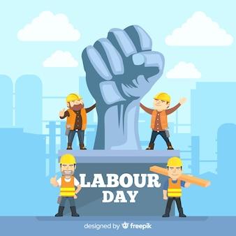Tło Dnia Pracy Premium Wektorów