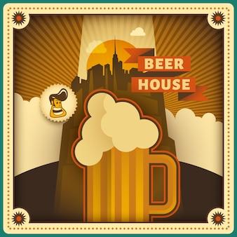 Tło domu piwa