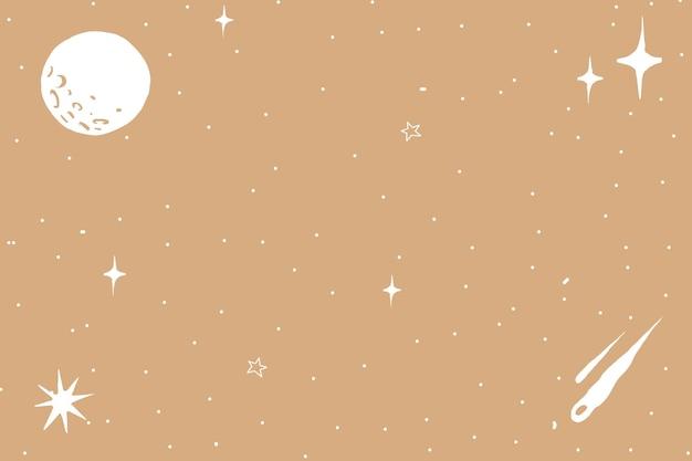 Tło doodle kosmosu