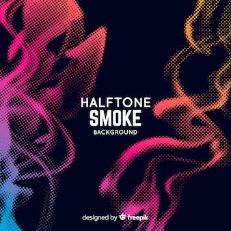 Tło dymu efekt półtonów