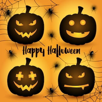 Tło dynie halloween