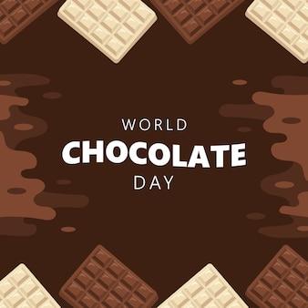 Tło dzień czekolady