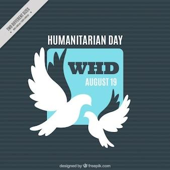Tło dzień humanitarna z gołębiami