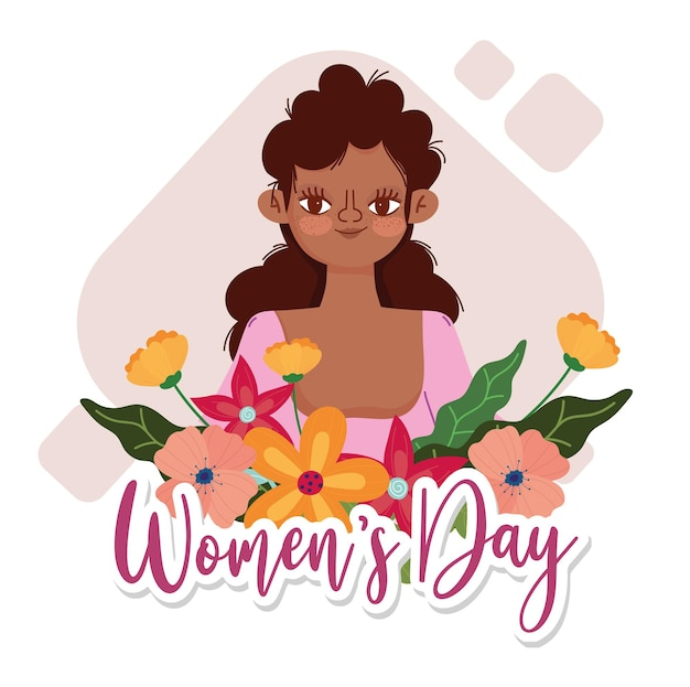 Tło dzień kobiet z kwiatami