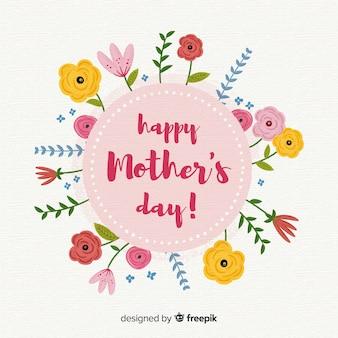 Tło dzień matki kwiatowy
