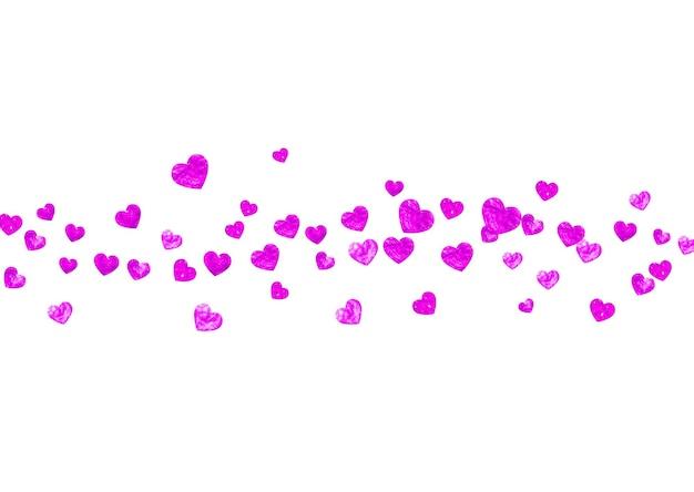 Tło dzień matki z konfetti różowy brokat. symbol na białym tle serca w kolorze róży. pocztówka na tle dzień matki. motyw miłości do specjalnej oferty biznesowej, banera, ulotki. święto kobiet