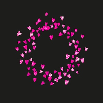 Tło dzień matki z konfetti różowy brokat