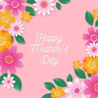 Tło dzień matki z kwiatami