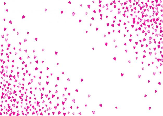 Tło dzień matki z różowym brokatem konfetti. pojedyncze słyszeć