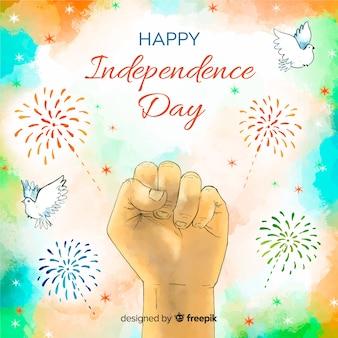 Tło dzień niepodległości akwarela indie