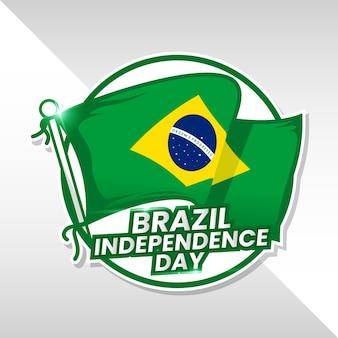 Tło dzień niepodległości brazylii
