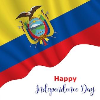 Tło dzień niepodległości ekwadoru