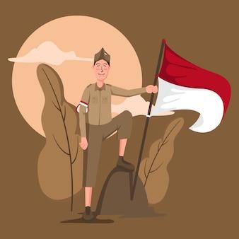 Tło dzień niepodległości indonezji