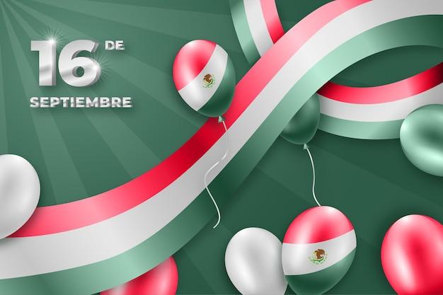 Tło dzień niepodległości meksyku